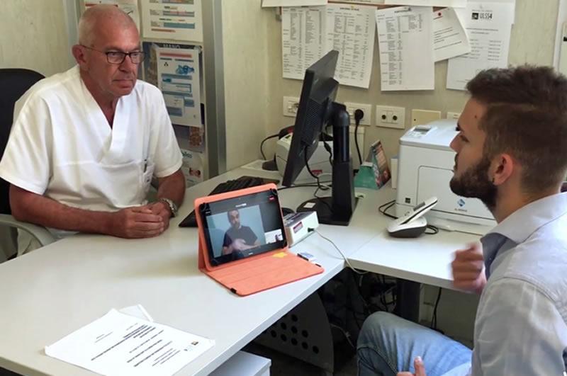 [Negli ospedali dell'Ulss4 un servizio di video-interpretariato in lingua dei segni]