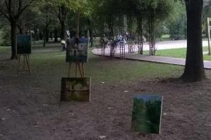 [Ex tempore di pittura al parco]