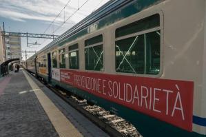 """[Il """"Treno della salute"""" a Portogruaro]"""