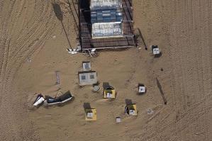 [Bibione, l'uso del drone per rilevare i danni delle mareggiate]