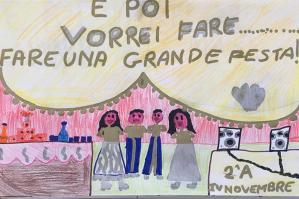 """[""""Il Coronavirus visto dai bambini"""": disegni esposti al Covid-Point ]"""
