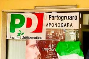 [Rubata la targa dedicata ad Aldo Camponogara al Circolo PD di Portogruaro]
